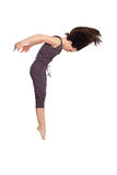 Современный танцор стиля на изолированной предпосылке Стоковая Фотография