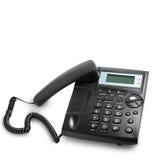 Современный телефонный звонок при изолированный шнур стоковые фотографии rf