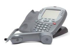 Современный телефон офисной системы с большим экраном LCD Стоковое Изображение RF