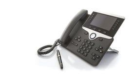 Современный телефон IP офиса с ручкой Стоковая Фотография