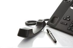 Современный телефон IP офиса Стоковая Фотография