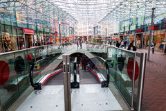 Современный торговый центр Spazio в Zoetermeer, Нидерланды Стоковые Изображения RF
