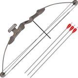 Современный лук и стрелы Стоковое фото RF