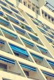 Современный фасад квартиры гостиницы с много балконов Стоковое фото RF