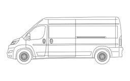 Современный фургон светокопия - стиль плана Стоковые Фотографии RF
