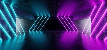Современный футуристический подземный отражательный конкретный гараж пустой r бесплатная иллюстрация