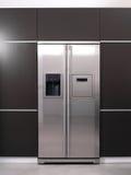 Современный холодильник Стоковое фото RF