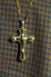 Современный христианский крест сделанный из стали Стоковые Изображения RF