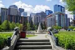 Современный центр города в Калгари, Альберте Канаде Стоковая Фотография