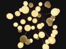 Современный циркуляр освещает предпосылку для украшения стоковые фотографии rf