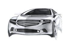 Современный чертеж автомобиля концепции Стоковые Фотографии RF