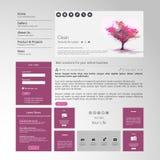 Современный чистый шаблон вебсайта Стоковое Изображение