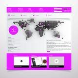 Современный чистый шаблон вебсайта Стоковые Фото