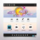 Современный чистый шаблон вебсайта Стоковые Изображения