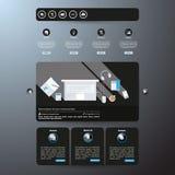 Современный чистый шаблон вебсайта Стоковое Фото