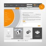 Современный чистый шаблон вебсайта Стоковые Изображения RF