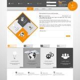 Современный чистый шаблон вебсайта Стоковое Изображение RF