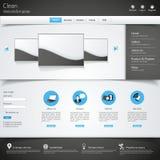 Современный чистый шаблон вебсайта Стоковое фото RF