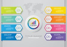 Современный шаблон infographics дела представления 8 вариантов иллюстрация вектора