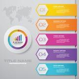 Современный шаблон infographics дела представления 5 вариантов иллюстрация штока