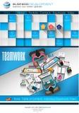 Современный шаблон вебсайта с плоским планом infographics стиля Стоковые Фото