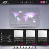 Современный шаблон вебсайта Стоковое фото RF