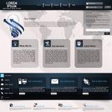 Современный шаблон вебсайта Стоковые Изображения RF