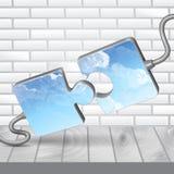 Современный шаблон головоломки Стоковые Фото