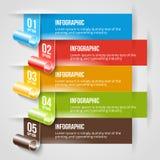Современный шаблон знамени Infographic и вариантов Стоковое Изображение RF