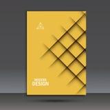 Современный шаблон дизайна брошюры вектора с абстрактной линией Стоковые Фото