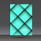 Современный шаблон дизайна брошюры вектора с абстрактной линией Стоковая Фотография RF