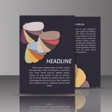 Современный шаблон дизайна брошюры/книги/рогульки конспекта вектора Стоковые Фото