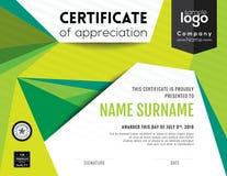 Современный шаблон дизайна предпосылки сертификата иллюстрация штока