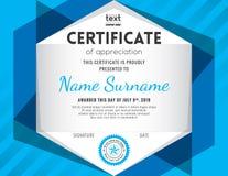 Современный шаблон дизайна предпосылки сертификата бесплатная иллюстрация