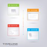 Современный шаблон дизайна срока Стоковое Изображение