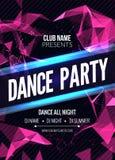 Современный шаблон партии музыки клуба, рогулька танцев, брошюра Плакат знамени звука клуба партии ночи Стоковое Фото