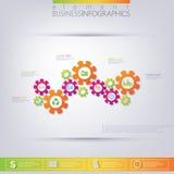 Современный шаблон 3D infographic Смогите быть использовано для плана потока операций, диаграммы, диаграммы, вариантов номера, ве Стоковые Фото