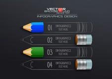 Современный шаблон Infographic с карандашем Стоковая Фотография RF