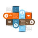 Современный шаблон infographics дела Стоковое Фото