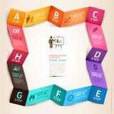 Современный шаблон origami infographics дела. Стоковые Изображения RF