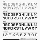 Современный шрифт вектора Стоковые Фото