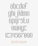 Современный шрифт сдвоенной линии Стоковое фото RF