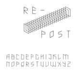 Современный шрифт Sans Serif стиля зип-кода Стоковые Фотографии RF