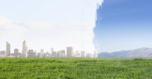 Современный штиль городской жизни или сельской местности Мультимедиа Стоковые Изображения