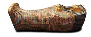 Современный экземпляр саркофага Tuthankamen золотого Стоковое Изображение