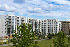 Современный экстерьер жилого дома Стоковое Изображение
