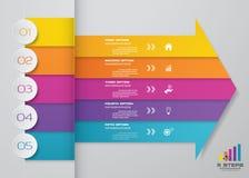Современный элемент дизайна диаграммы стрелки 5 шагов EPS10 бесплатная иллюстрация