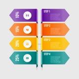 Современный элемент infographics Стоковые Фото