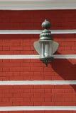 Современный люминер на стене памятника архитектуры Стоковые Фотографии RF