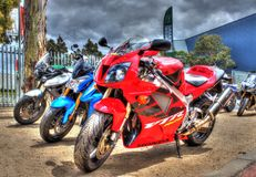 Современный японский построенный мотоцикл Honda стоковые фотографии rf